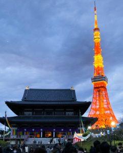 東京タワーと神社